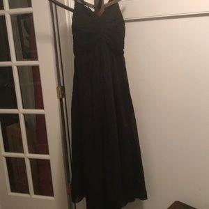 New Anthropologie FP Black Cotton Halter Dress Lge